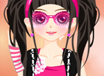 Flower teen girl dress up game